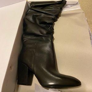 Black Leather Nine West Castien Boots